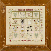 Four Hearts Wedding Sampler Cross Stitch Kit