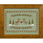 Reindeers In Love Cross Stitch Kit