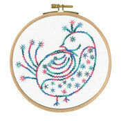 Pretty Coy Printed Embroidery Kit