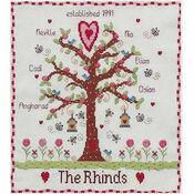 Family Tree Cross Stitch Kit