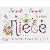 Niece Birthday Cross Stitch Kit