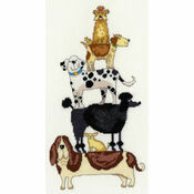 Dog Stack Cross Stitch Kit