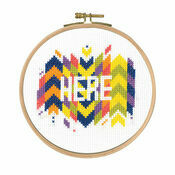 Here Cross Stitch Kit With Hoop