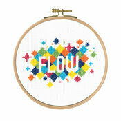 Flow Cross Stitch Kit With Hoop