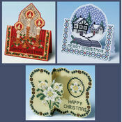 3D Xmas Set Of 3 Cross Stitch Card Kits