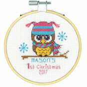 Baby\'s First Christmas Cross Stitch Hoop Kit