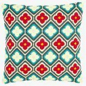 Rhombuses & Flower Motif Long Stitch Cushion Panel Kit