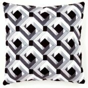 Black And White Long Stitch Cushion Panel Kit