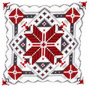Snow Crystal 2 Chunky Cross Stitch Cushion Panel Kit