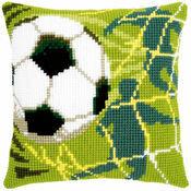 Football Chunky Cross Stitch Cushion Panel Kit