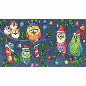 Christmas Owls (Karen Carter) Cross Stitch Kit