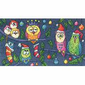 Christmas Owls (Karen Carter) Cross Stitch Kit