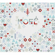 Noel Heart Cross Stitch Kit