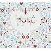Noel Heart Cross Stitch Kit