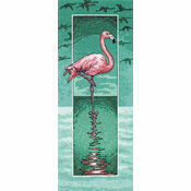 Flamingo Cross Stitch Kit