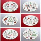 Penguins Christmas Greetings Cross Stitch Card Kits (Set Of 6)