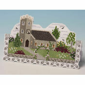 Church Card 3D Cross Stitch Kit