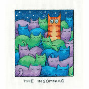The Insomniac Cat Cross Stitch Kit