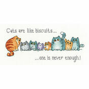 Cats And Biscuits Cross Stitch Kit