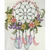 Pastel Dreamcatcher Cross Stitch Kit