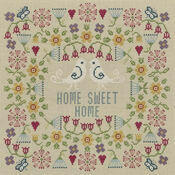 Flower Home Sweet Home Sampler Cross Stitch Kit