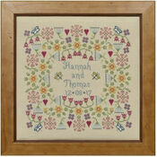 Flower Wedding Sampler Cross Stitch Kit