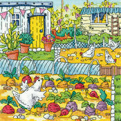Vegetable Patch Cross Stitch Kit