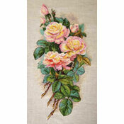 Vintage Roses Cross Stitch Kit