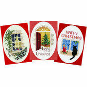 Christmas Home Collection - Set Of 3 Cross Stitch Card Kits