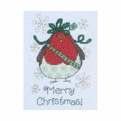 Alfie Robin Cross Stitch Christmas Card Kit