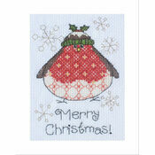 Arthur Robin Cross Stitch Christmas Card Kit