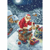 Santa's Chimney Cross Stitch Kit