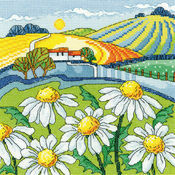 Daisy Landscape Cross Stitch Kit