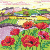 Poppy Landscape Cross Stitch Kit