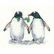 Christmas Penguins By Sue Hill Cross Stitch Kit