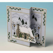 Fir Tree Cottage 3D Cross Stitch Christmas Card Kit