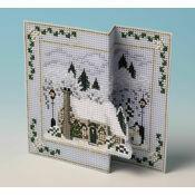 Fir Tree Cottage 3D Cross Stitch Christmas Card Kit