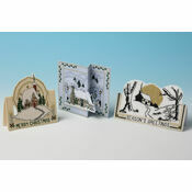 Cottage Selection - Set of 3 3D Cross Stitch Christmas Card Kits