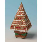 Gingerbread Tree 3D Cross Stitch Kit