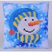 Snowman Cap Pillow Diamond Dotz Kit