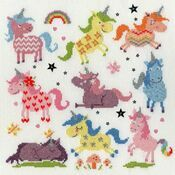 Slightly Dotty Unicorns Cross Stitch Kit