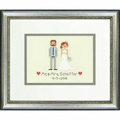 Bride & Groom Cross Stitch Wedding Sampler Kit