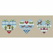 Festive Hearts Winter Cross Stitch Kit