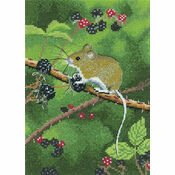 Wood Mouse Cross Stitch Kit