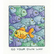 Go Your Own Way Cross Stitch Kit