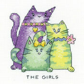\'The Girls\' Cat Cross Stitch Kit