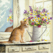 Kitten In The Window Cross Stitch Kit
