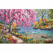 Cherry Blossom Creek Cross Stitch Kit