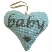 Baby Boy Grey On Blue Heart Tapestry Kit