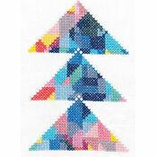 Triangulation Geometry Printed Cross Stitch Kit